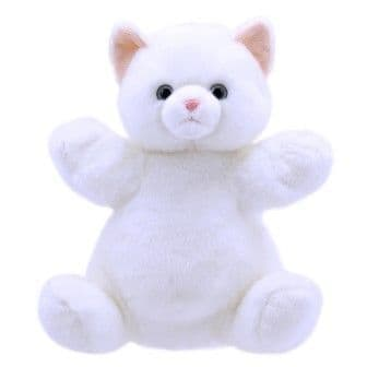 Cuddly Tumms Puppet White Cat